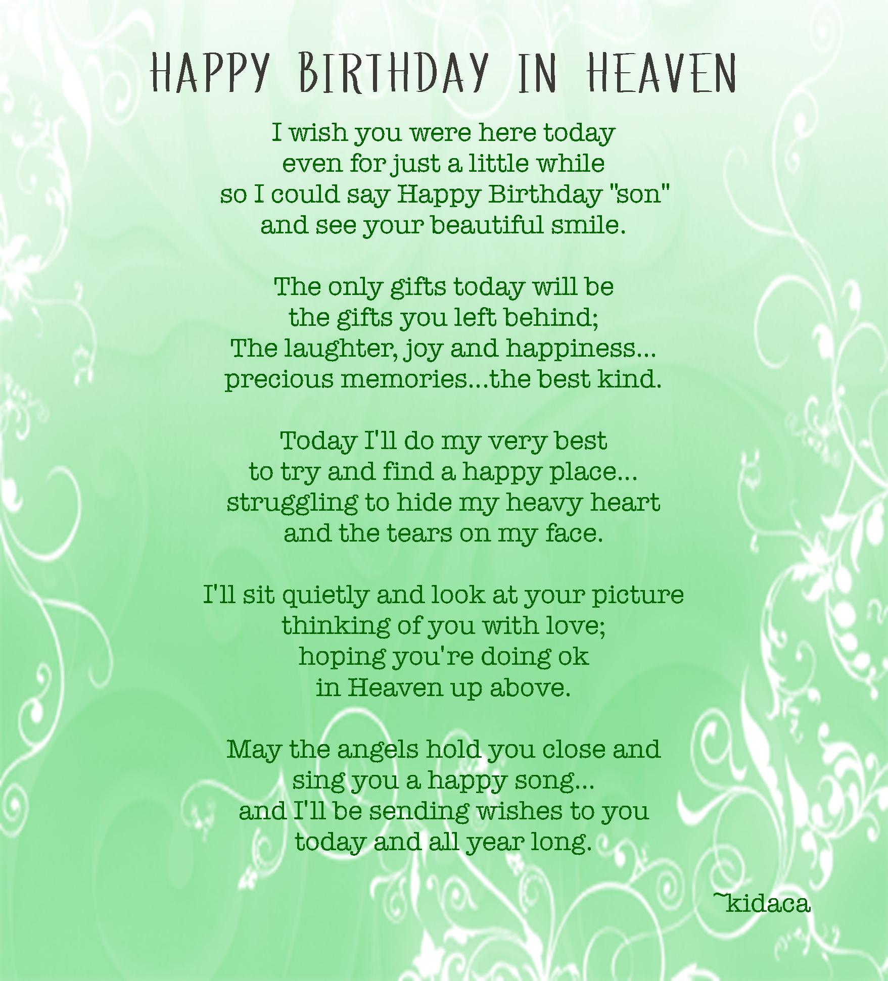 Birthday Quotes Passed Away. QuotesGram