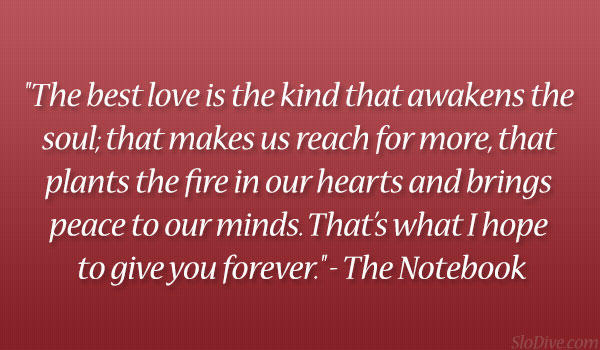 Love Quotes From The Notebook Love Quotes From The N...
