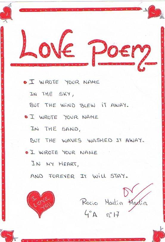 Cute short poems for boyfriend