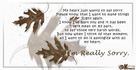 To my poem sorry wife 18 I'm