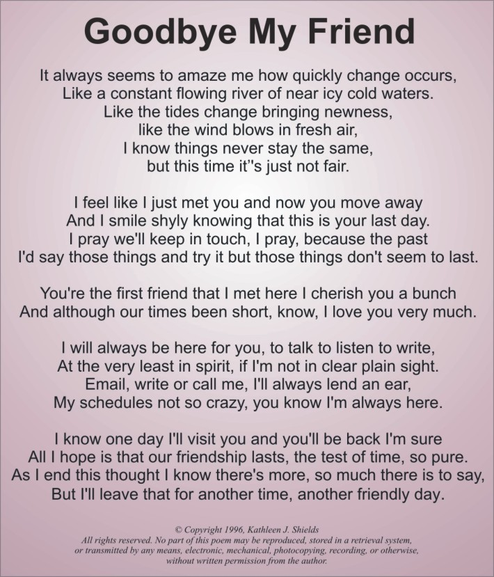 goodbye my friend quotes quotesgram