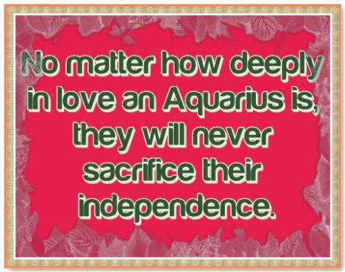 how to know if an aquarius woman is in love