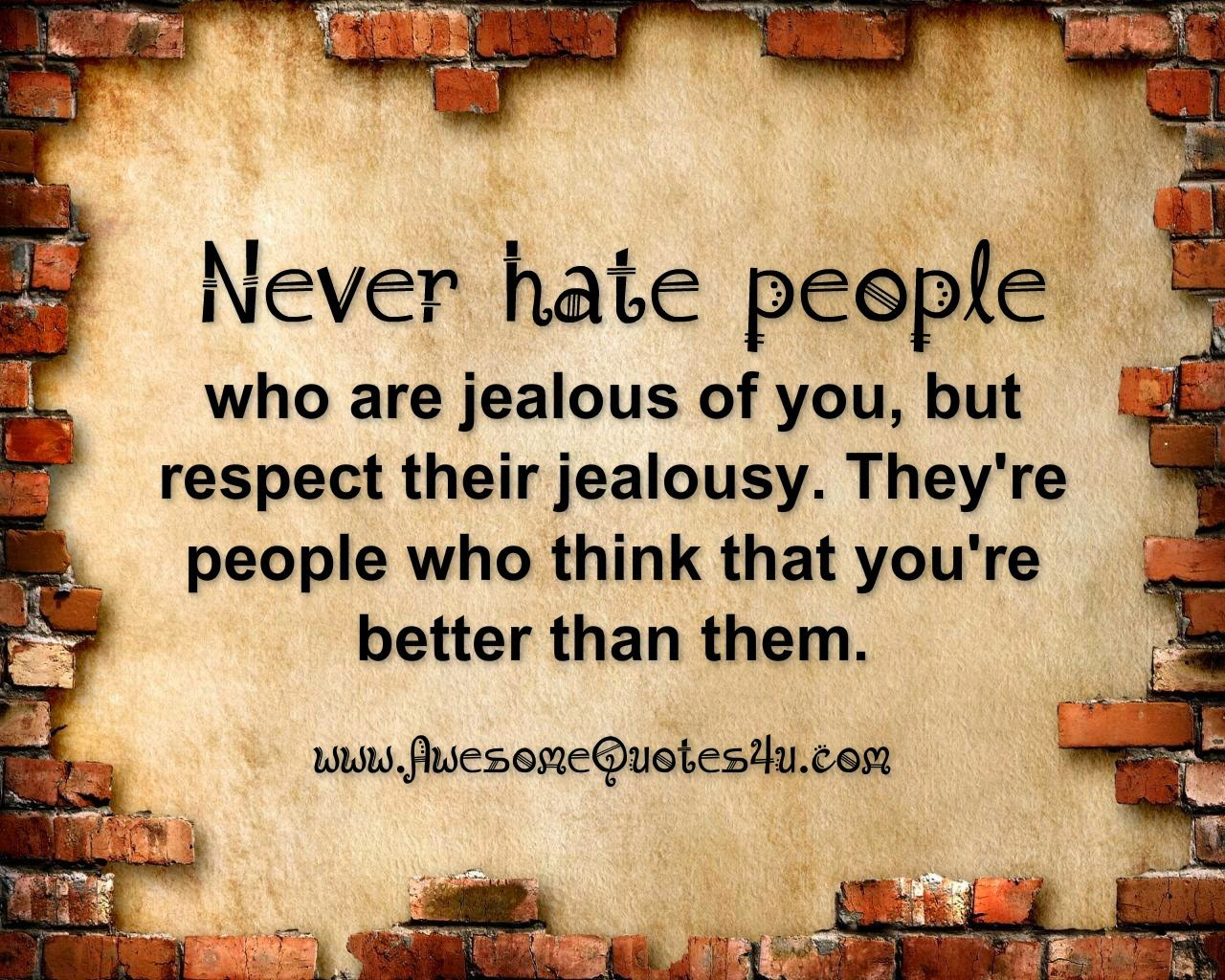 People Jealous Of You Quotes. QuotesGram