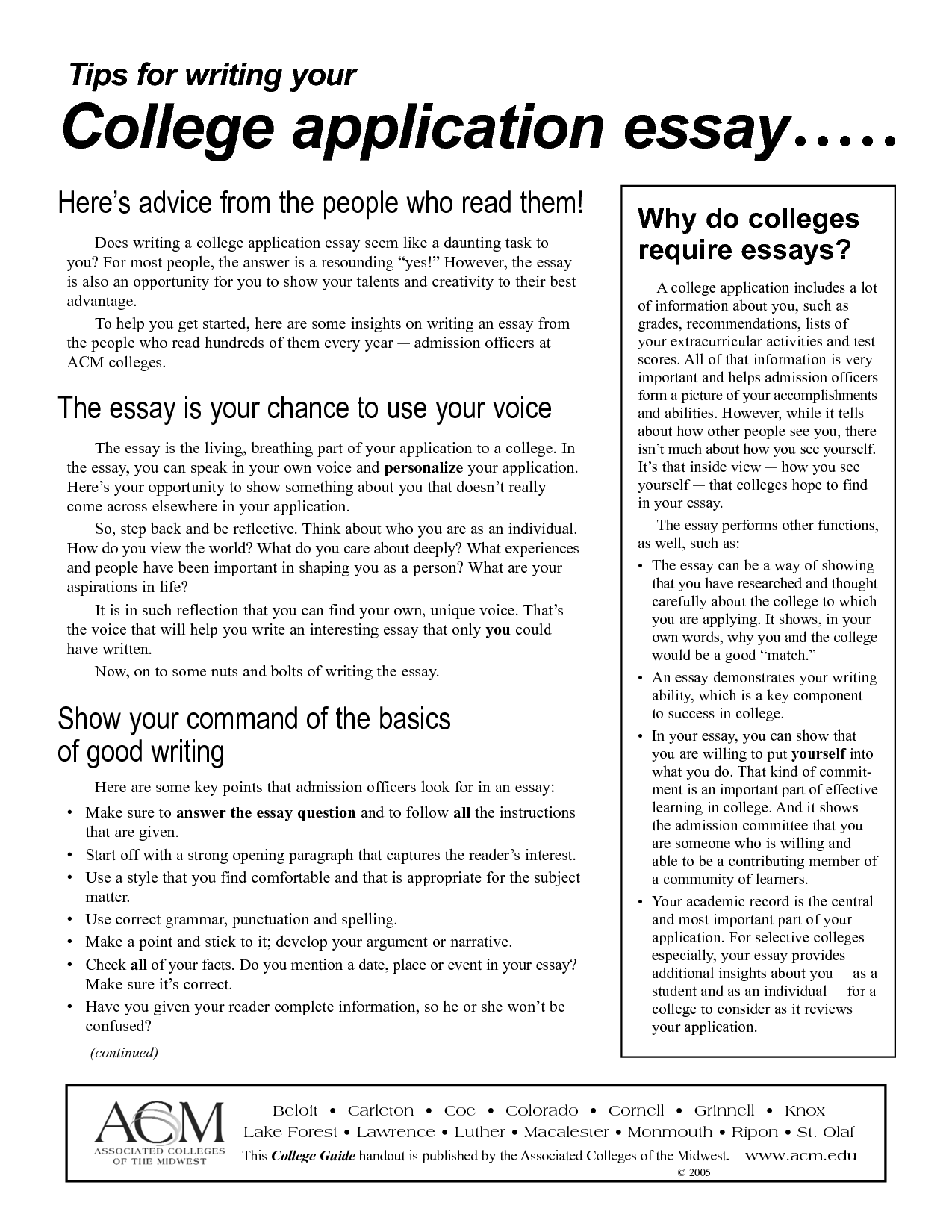 College application essay questions how to start