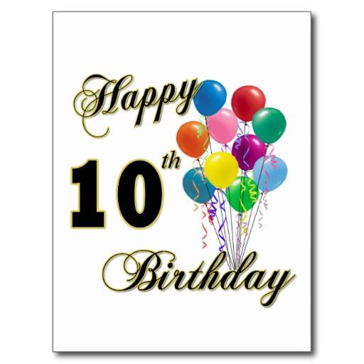 Happy 10th Birthday Quotes Quotesgram