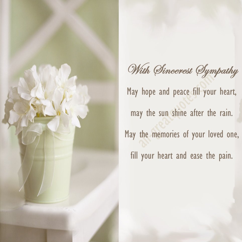 Quotes About Loss Of A Loved One: Deepest Sympathy Quotes Loved Ones. QuotesGram