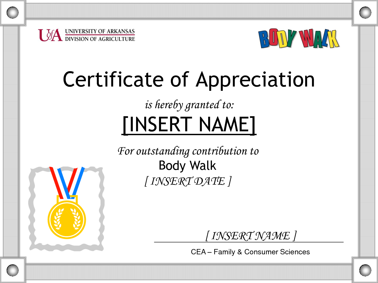 Doc600600 Sample Wording for Certificate of Appreciation How – Sample Certificate of Appreciation
