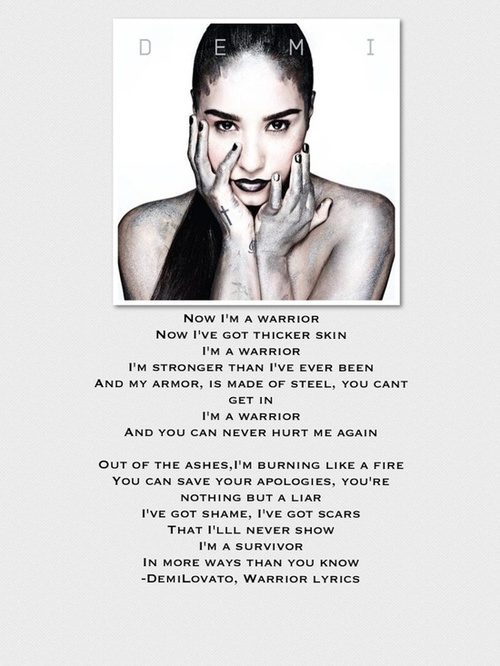 demi lovato warrior lyrics - photo #17