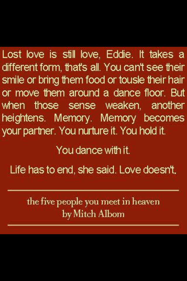 The Five People You Meet In Heaven Quotes Quotesgram