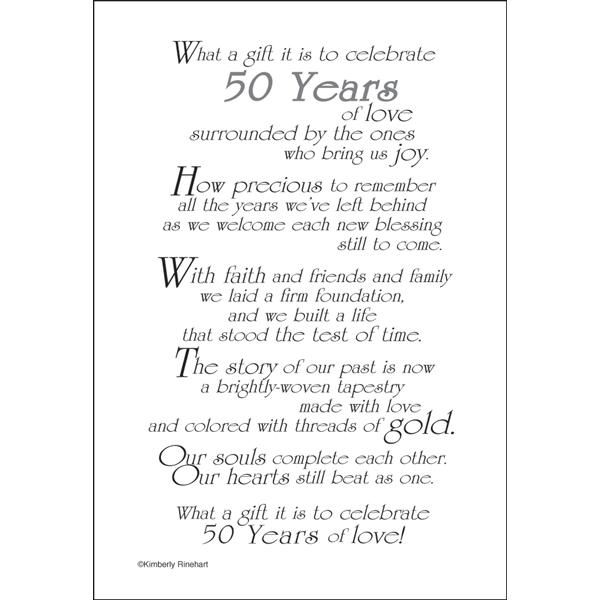 50th Anniversary Poems And Quotes Quotesgram