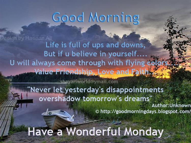 Good Morning Monday Quotes For Someone Special: Inspirational Quotes Morning Good Monday. QuotesGram