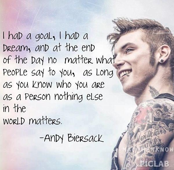 Andrew Biersack Quotes. QuotesGram