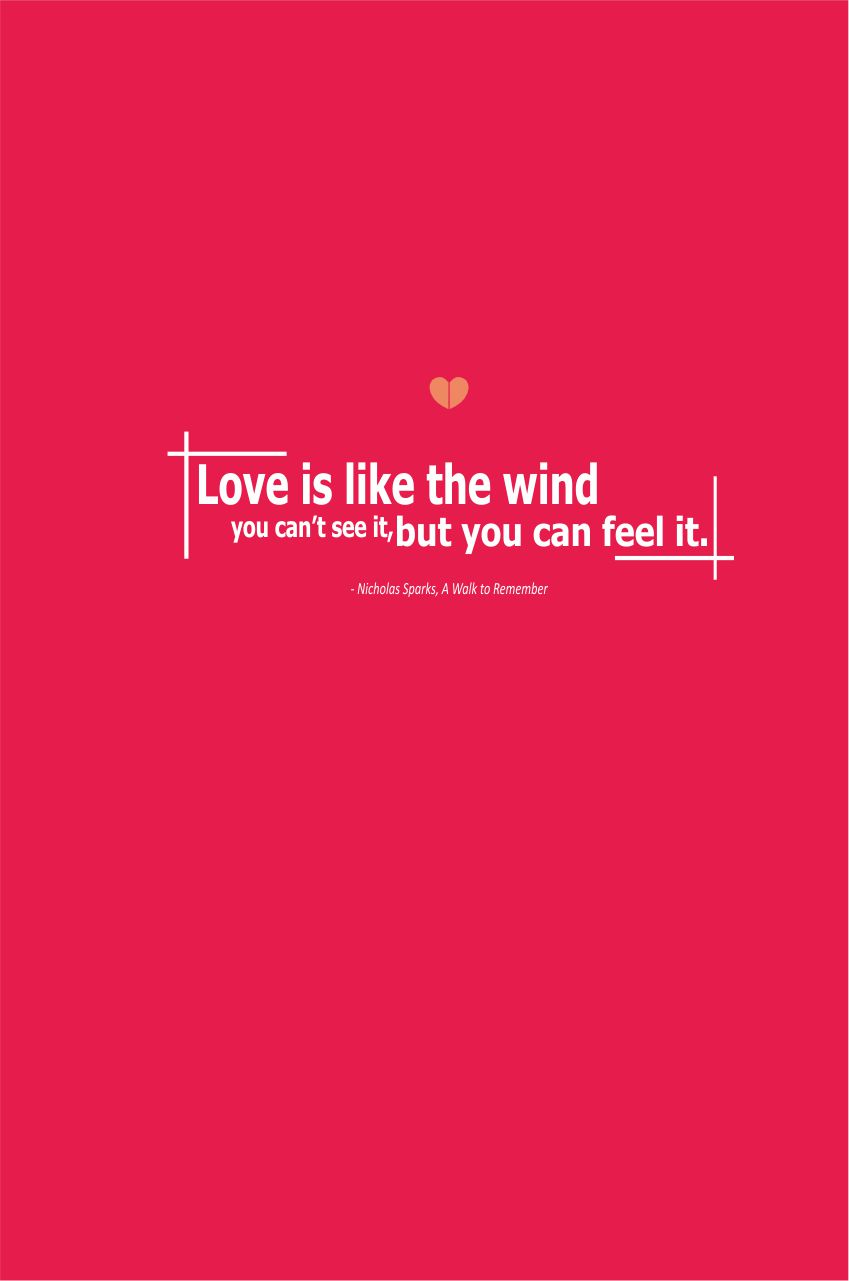 a walk to remember quotes our love is like the wind - photo #32