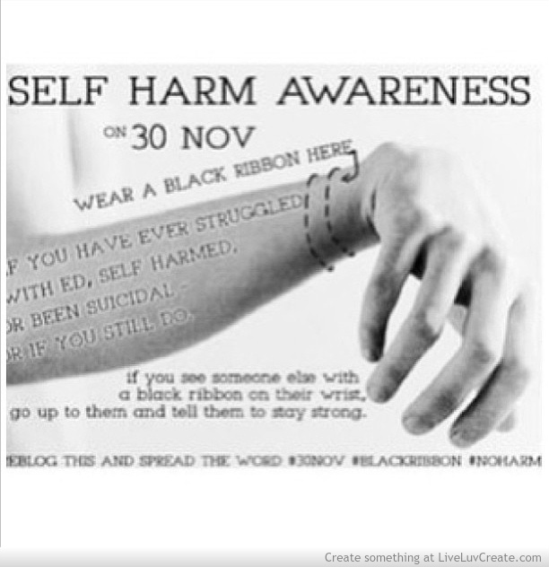 Sad Quotes About Cutting Quotesgram: Self Harm Awareness Quotes. QuotesGram