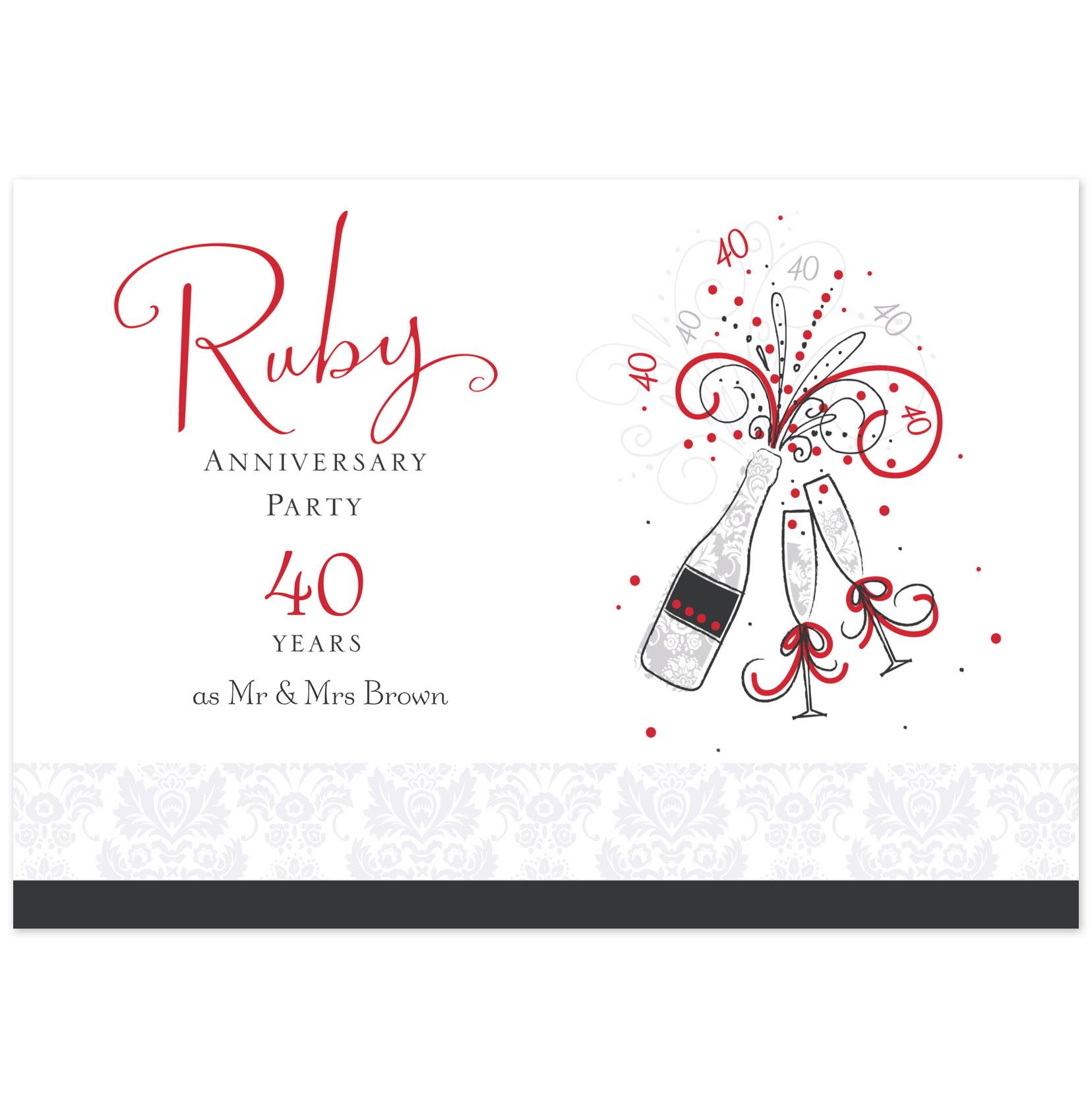 40th Wedding Anniversary Quotes: Hallmark Anniversary Quotes. QuotesGram
