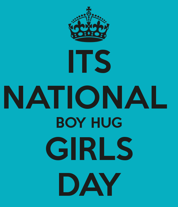 boy hug girl day