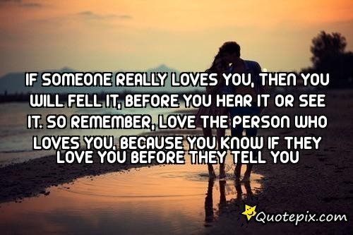 How do you know if a person loves you