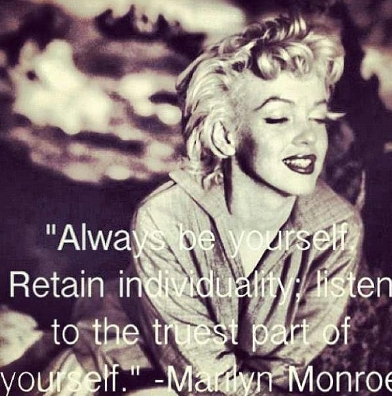 Marilyn Monroe Photos And Quotes: Marilyn Monroe Quotes About Being Yourself. QuotesGram