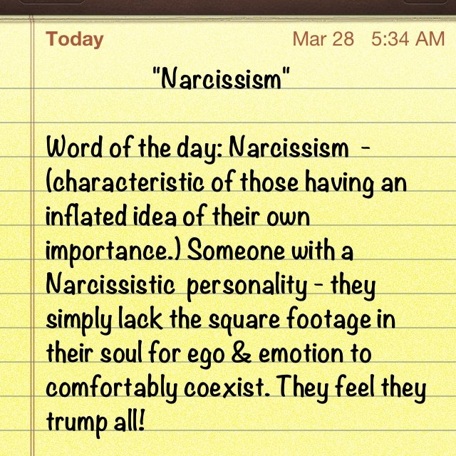 Re how to you tell a narcissist if Signs of