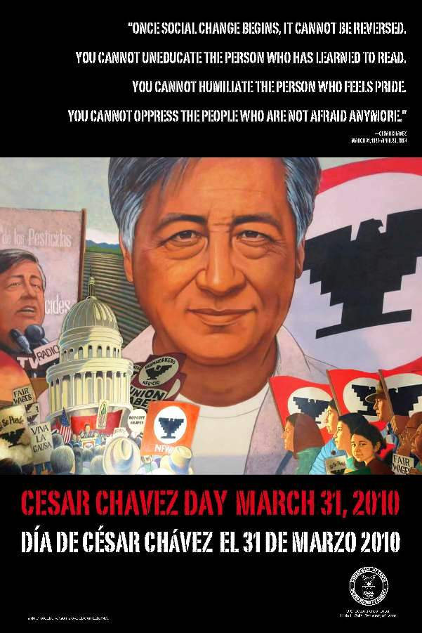 account of the life and works of cesar estrada chavez Cesar estrada chavez, senator robert f kennedy noted, was one of the heroic  figures of our  he left school to work in the fields fulltime to support his family.