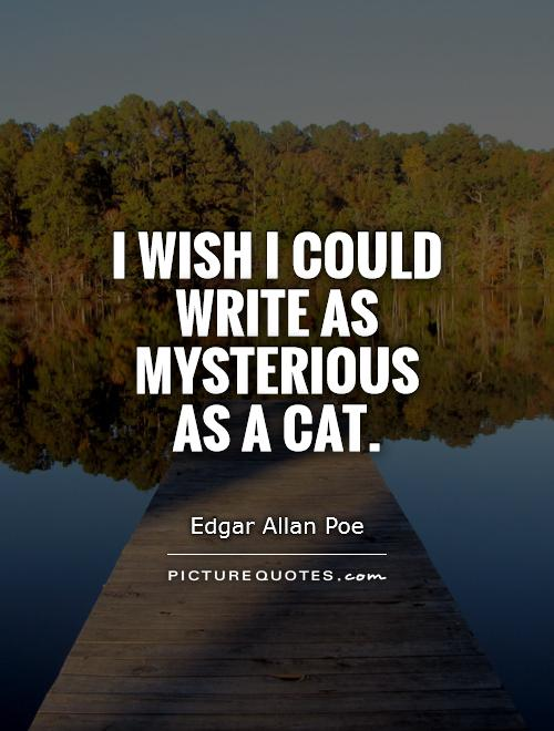 i wish i could write as mysterious as a cat