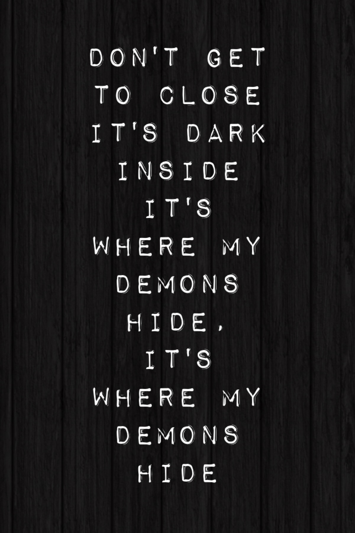 Demons Imagine Dragons Quotes. QuotesGram  Demons