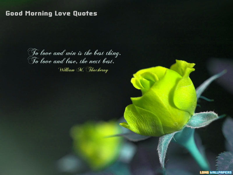 Good Morning Love Wallpaper For Her : Good Morning Winter Quotes. QuotesGram