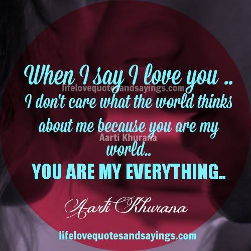 You Are My Everything Quotes For Her. QuotesGram