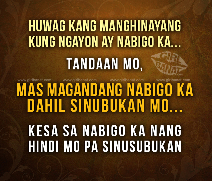 Positive Vibes Quotes Tagalog: Tagalog Inspirational Quotes. QuotesGram