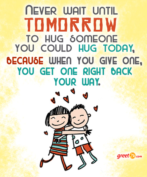 Quotes About Friendship And Hugs. QuotesGram