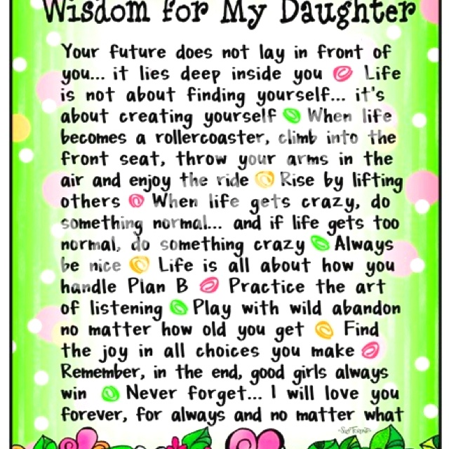 For Daughter Quotes: Graduation Quotes For Daughters From Parents. QuotesGram