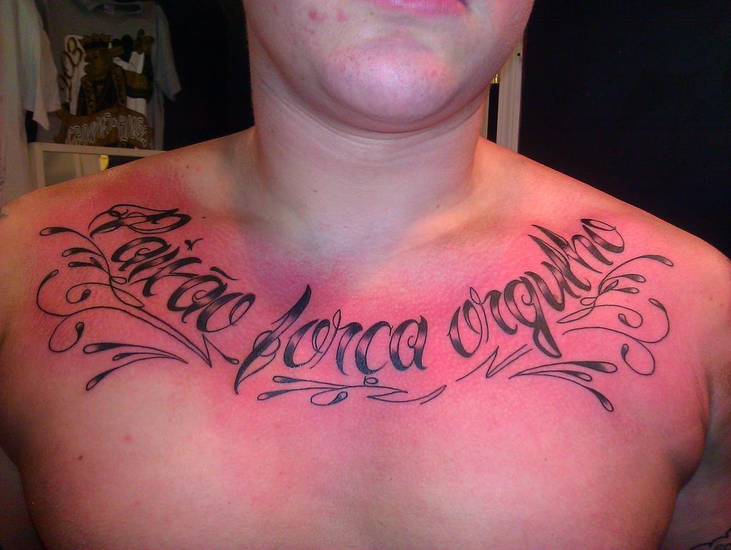 Chest Script Tattoo Quotes. QuotesGram