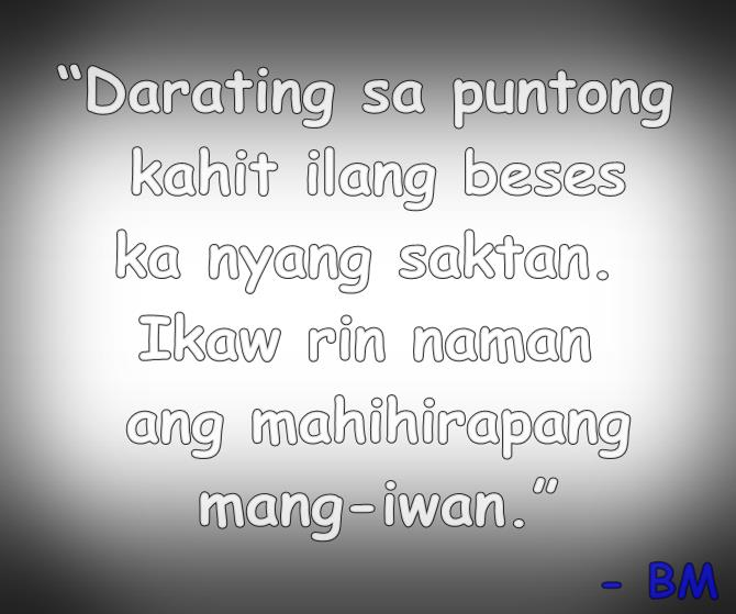 Sad Quotes About Depression: Heart Broken Sad Tagalog Quotes. QuotesGram