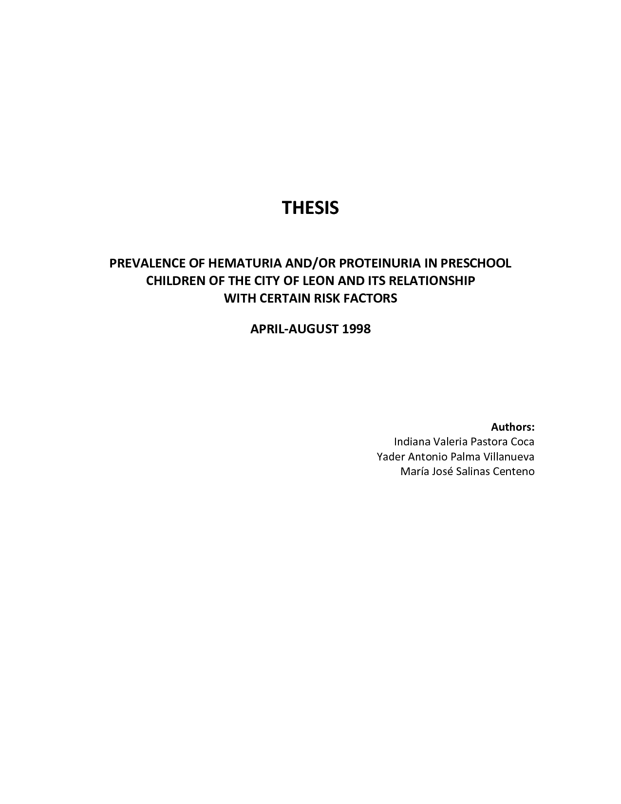 didication for thesis