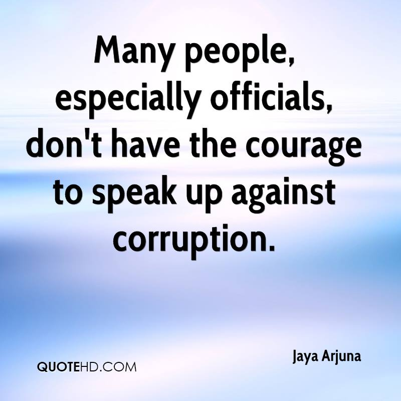 Quotes About Corruption: Speak Up Quotes. QuotesGram