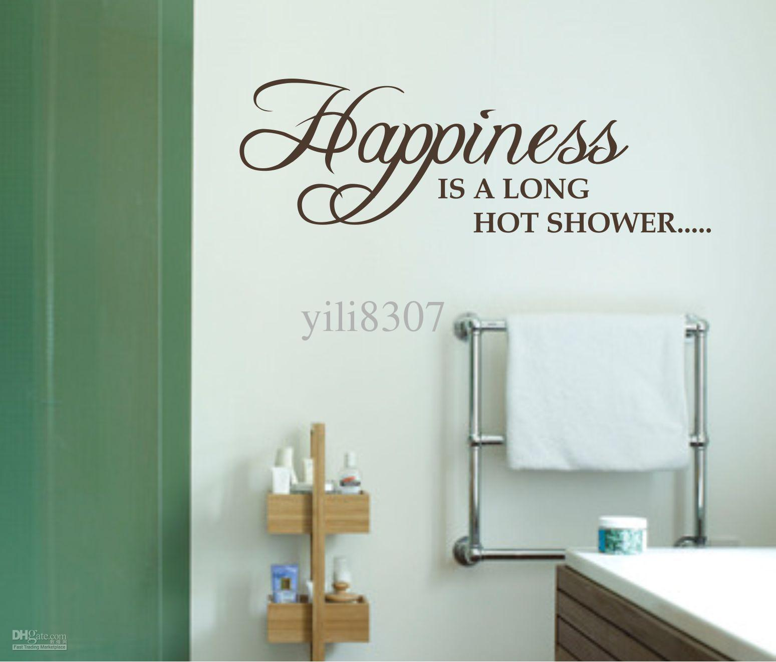 Shower bathroom wall decals quotes quotesgram for Bathroom wall decor quotes