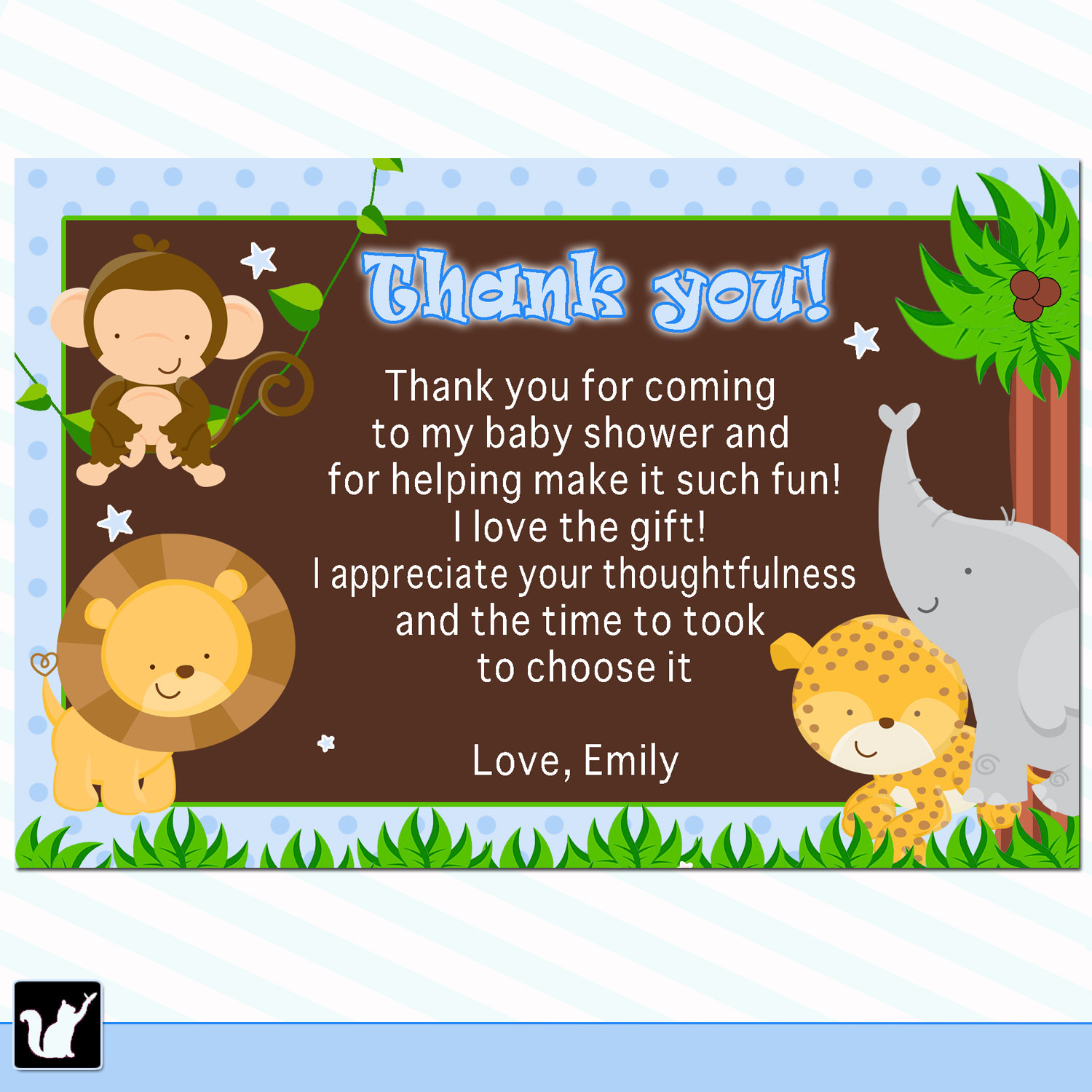Thank You Quotes For Baby Gift: Animal Thank You Quotes. QuotesGram