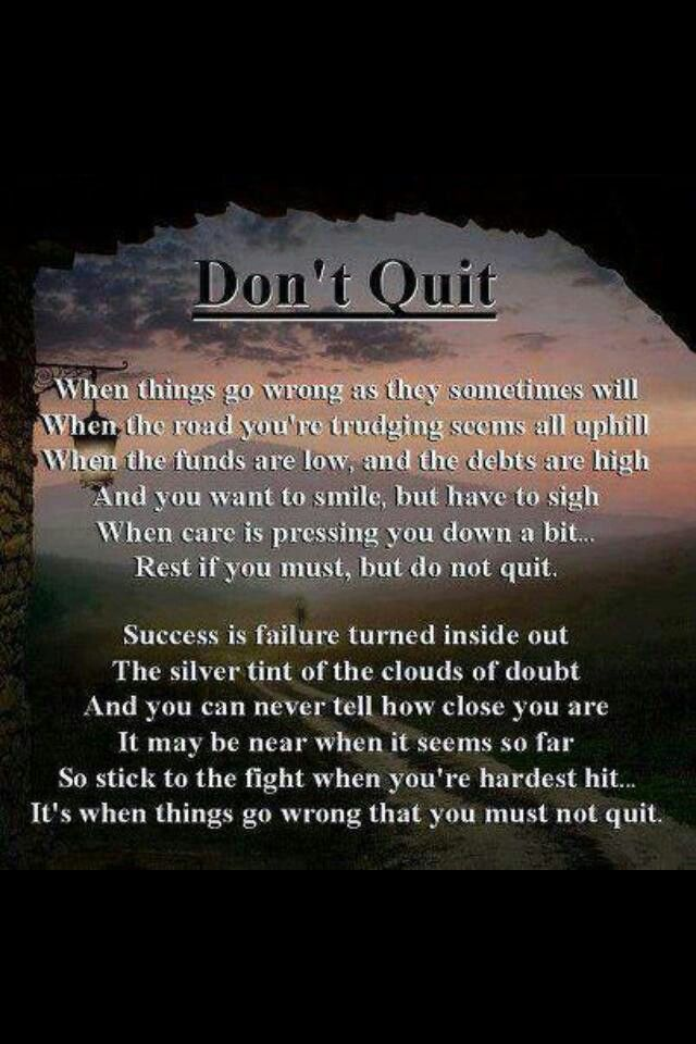 Motivational Inspirational Quotes: Dont Quit Inspirational Quotes. QuotesGram