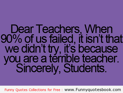 Cute Quotes For Your Teacher. QuotesGram