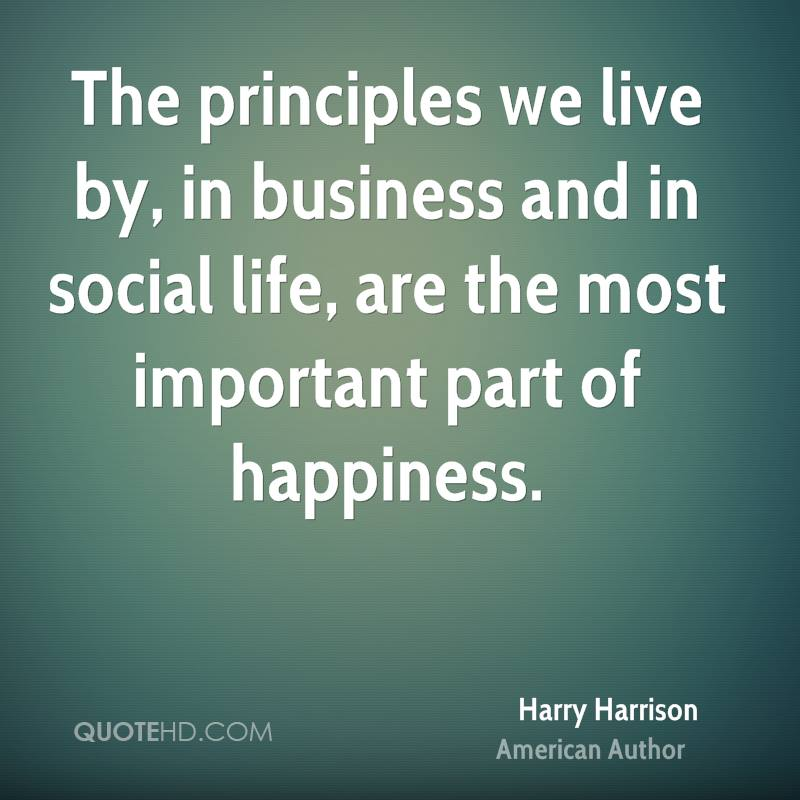 the principles of the happiness in the society