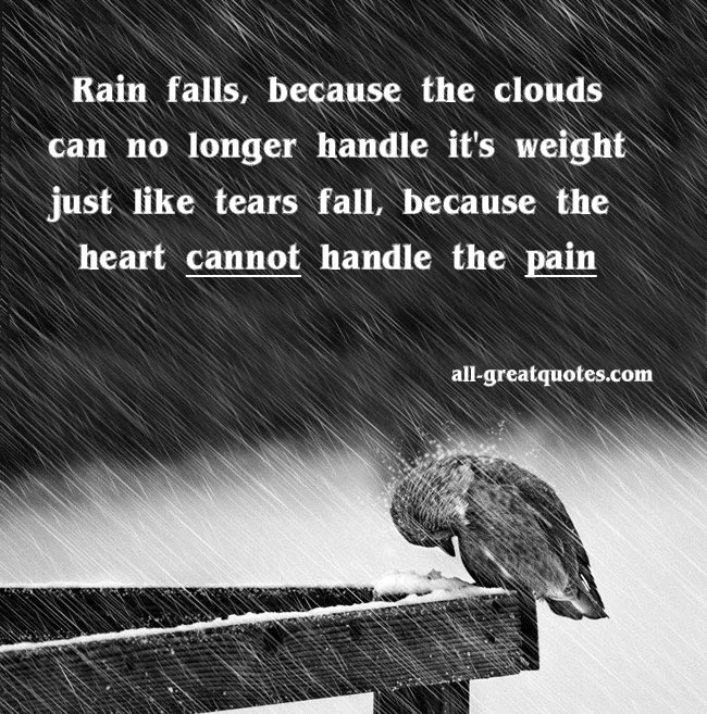 Beautiful Rainy Day Quotes: Its Raining Quotes. QuotesGram
