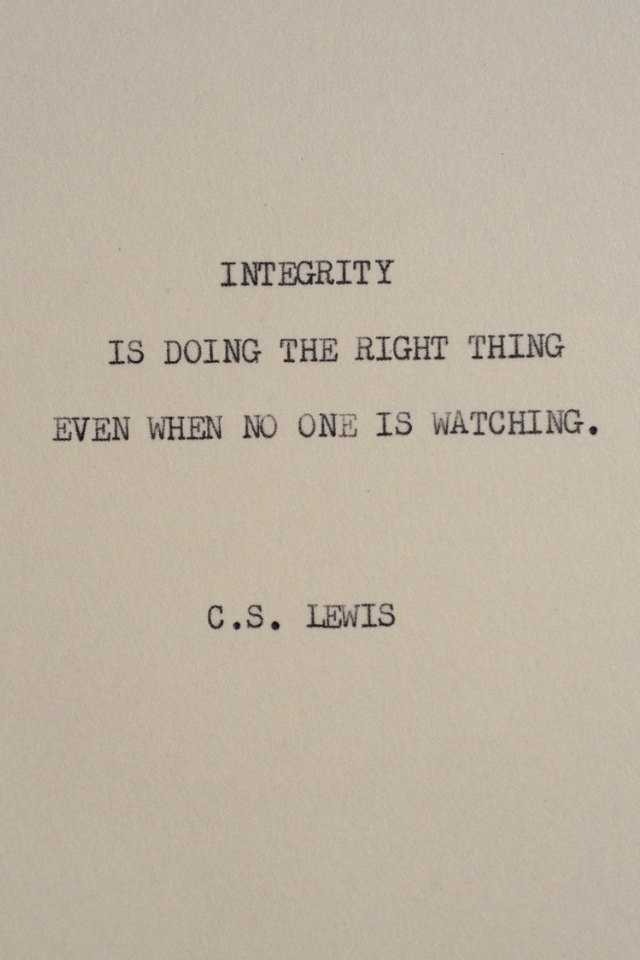 With The Word Integrity Quotes. QuotesGram