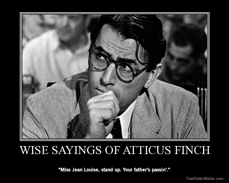 atticus finchs fatherhood in to kill a mockingbird Title length color rating : atticus finch in to kill a mockingbird - atticus finch in to kill a mockingbird atticus finch is a lawyer in the town of maycomb in the novel to kill a mockingbird by harper lee, he is a father of two children, jem and scout finch.