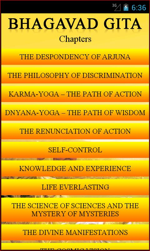 bhagvadgita essay This is a remarkable essay it was completely thorough and held my attention it clarified several issues for me summary of the bhagavad gita.