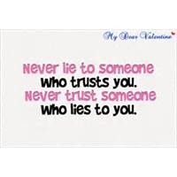 starting a relationship based on lies quotes