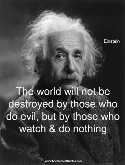 Albert Einstein Quotes Evil People. QuotesGram