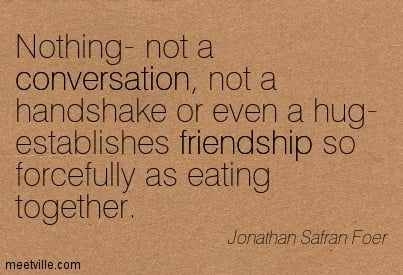 eating together quotes quotesgram