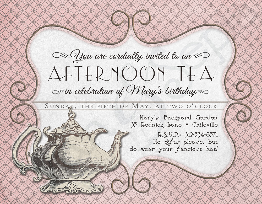 Free Printable Kitchen Tea Invitation Templates