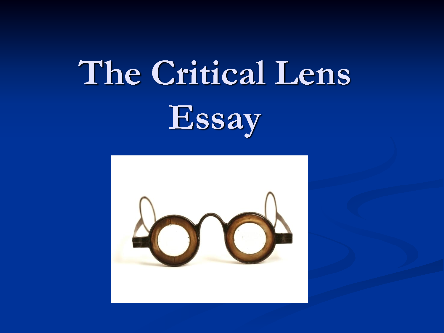English essay help online critical lens