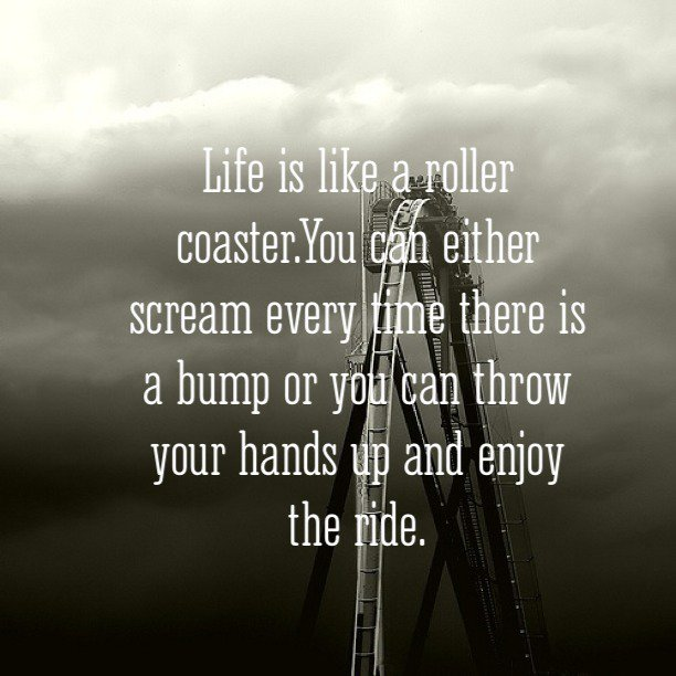 I Believe Life is Like a Roller Coaster